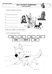 Bolt Worksheet