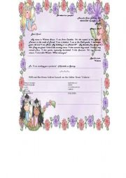English Worksheet: A Letter to a penpal