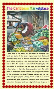 English Worksheet: Comprehension - Going to the Market!