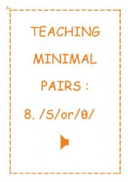 TEACHING MINIMAL PAIRS 8