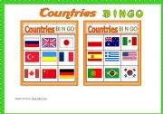 Contries BINGO Game # 10 cards # Vocabulary list # Bingo Instructions # B/W Bingo # fully editable
