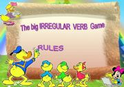 English Worksheet: The Big Irregular Verb Card Game - Rules