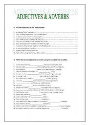 Adjectives vs. Adverbs