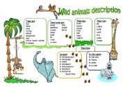 English Worksheets: Wild animal description