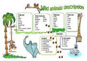 Wild animal description