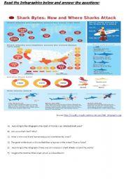 English Worksheets: Shark attack