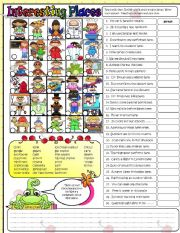 English Worksheets: Interesting Places