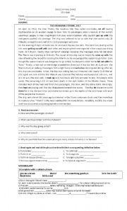 English Worksheet: new headway intermediate (final)