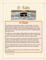 English Worksheets: Al-Kaaba