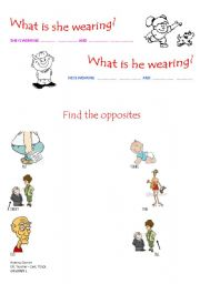 English Teaching Worksheets Clothes