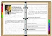 English Worksheet: READING ****Nelson Mandela****