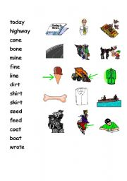English Worksheets: Matching words with pictures