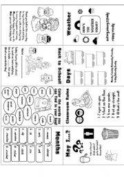 English worksheet: Back to School (minibook)