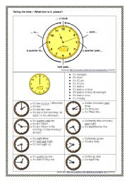 English Worksheet: Telling the Time - Overview