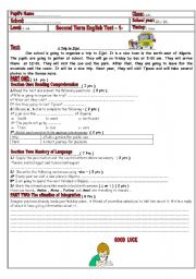 English Worksheets: 3AMtest