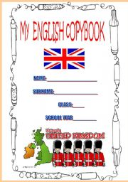 English Worksheets: COVER FOR COPYBOOK