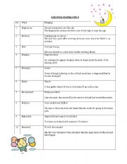 English Worksheet: Adjectives (and Quiz) starting with d
