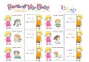 English Worksheet: The body - 30 memo cards (1/5)