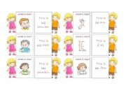 English Worksheets: The body - 30 memo cards (2/5)