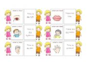 English Worksheets: The body - 30 memo cards (3/5)