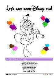 English Worksheets: Coloring Printables ::: Donald Duck