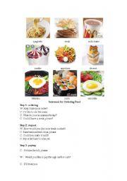 Ordering food (3 steps)