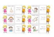 English Worksheets: The body - 30 memo cards (4/5)