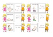 English Worksheet: The body - 30 memo cards (5/5)