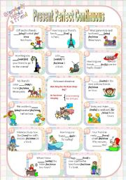 English Worksheet: Friends. Present Perfect Continuous