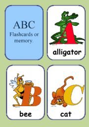 English Worksheets: ABC flashcards A-G  1/4