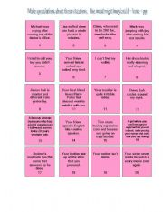 English Worksheet: MODALS OF PAST PROBABILITY BOARD GAME