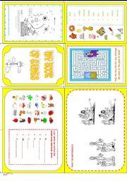 English Worksheet: MY BOOK OF GAMES