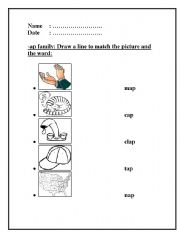 ad Word Family Worksheet | Review | PrimaryLearning.org