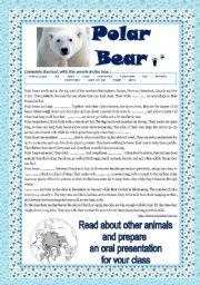 English Worksheets: The Polar Bear