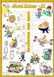 English Worksheet: WORD GAMES - III