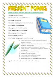 English Worksheets: Present Forms