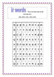 Printables Ir Words Phonics english worksheets the alphabet page 337 words with ir
