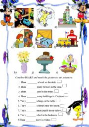 English Worksheets: there is /are