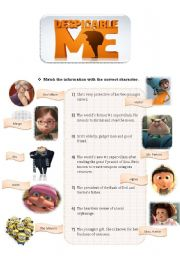 English Worksheets: Despicable Me Movie Guide-Part 1