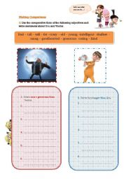 English Worksheet: Despicable Me Movie Guide-Part 2