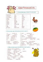 Subject Pronouns and verb