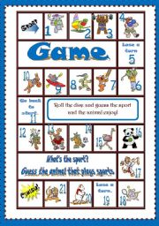 English Worksheet: What�s the sport? GAME *full editable