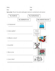 English Worksheets: Positive and Negative statements