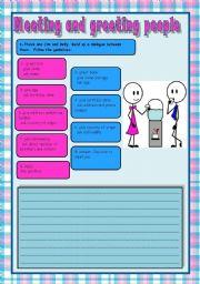 English Worksheet: Meeting and greeting people