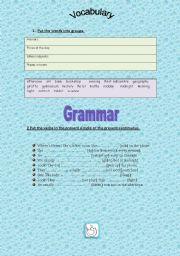 English Worksheets: unit revision