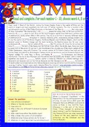 English Worksheets: ROME.