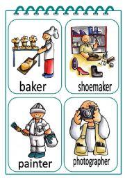 English Worksheet: Job Flash-cards