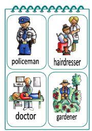 English Worksheet: Job Flash-cards 2