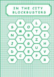 English Worksheet: IN THE CITY - BLOCKBUSTERS