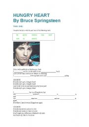 English Worksheets: Hungry Heart by Bruce Springsteen